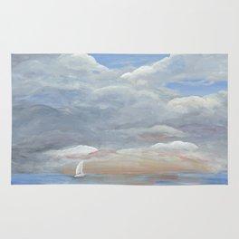 Sailboat at Sunset Painting Rug