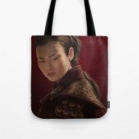 mulan Tote Bags featuring Mulan by Ravenno