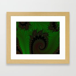 Feathered Friends In Green Framed Art Print