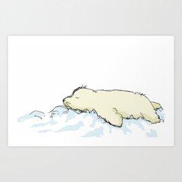 Baby Seal Art Print