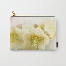 Hellebores in blue jug Carry-All Pouch