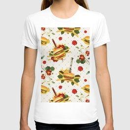 cheeseburger in gangstas paradise T-shirt
