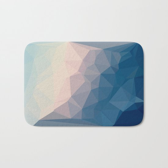 BE WITH ME - TRIANGLES ABSTRACT #PINK #BLUE #1 Bath Mat