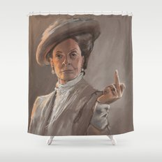 Maggie Smith Gives the Finger Shower Curtain
