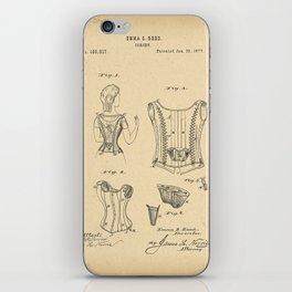 1877 Patent Corset iPhone Skin