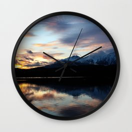 Dreamy Jasper Sunset Wall Clock