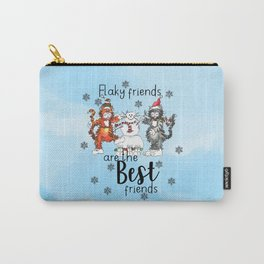 Flaky Friends are the Best Friends Carry-All Pouch