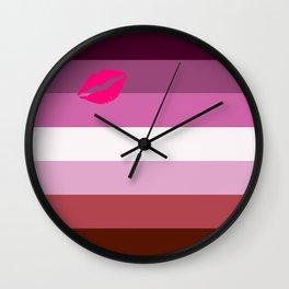 Lipstick Lesbian Wall Clock