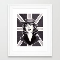 agent carter Framed Art Prints featuring Agent Carter by Katy-L-Wood