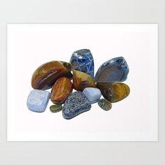 Polished Rocks Art Print