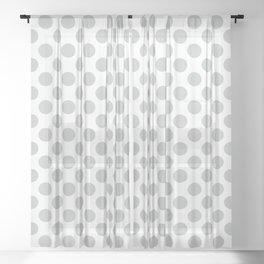 Light Grey Polka Dots Pattern Sheer Curtain