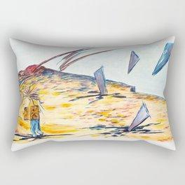 X voYages de Zed (toile 4 -série 1) Rectangular Pillow