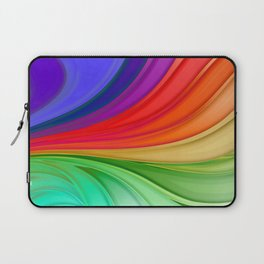 Abstract Rainbow Background Laptop Sleeve