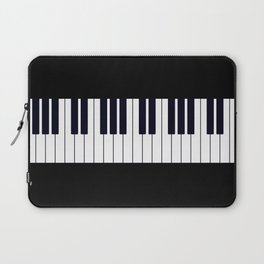 Piano Keys - Black and white simple piano keys pattern minimalistic music themed artwork Laptop Sleeve