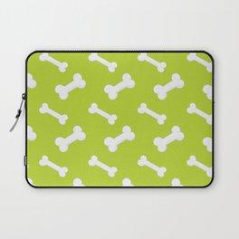 Neck Gaiter Puppy Pattern Green Dog Bones Neck Gator Laptop Sleeve