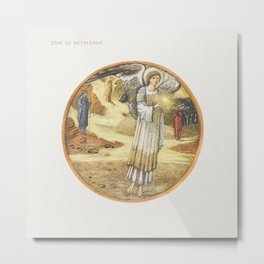 Star of Bethlehem from The Flower Book (1905) by Sir Edward Burne–Jones Metal Print