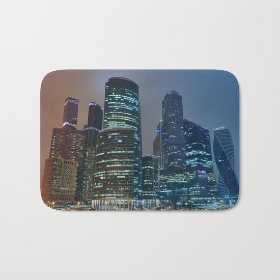 Moscow's Skyscrapers Bath Mat
