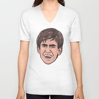 caleb troy V-neck T-shirts featuring Troy by turddemon