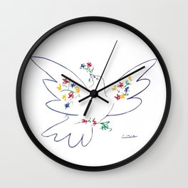 Pablo Picasso Dove Of Peace 1949 Artwork Shirt, Reproduction Wall Clock