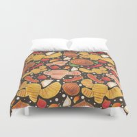 indonesia Duvet Covers featuring Indonesia Spices by haidishabrina