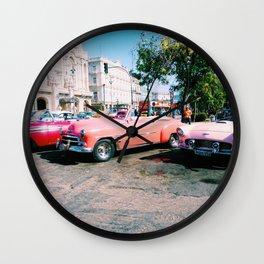 Cuban Taxis Wall Clock