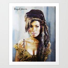 Winehouse Portrait 3 Art Print