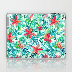 Paradise Floral - a watercolor pattern Laptop & iPad Skin