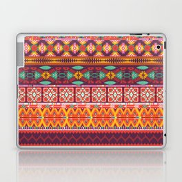 Seamless colorful aztec carpet with birds,flowers and arrow Laptop & iPad Skin