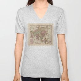 Bowles's Map of Asia (1791) Unisex V-Neck
