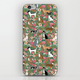 Chihuahua mixed coats dog breed floral pet art must have chiwawa lover gifts iPhone Skin