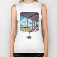 typewriter Biker Tanks featuring Typewriter by liev