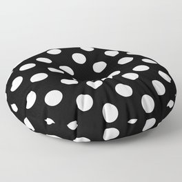 Polka Dot (White & Black Pattern) Floor Pillow