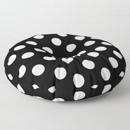 Polka Dot (White & Black Pattern) Floor Pillow