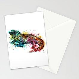 Colourful Tuatara Stationery Cards