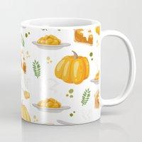 pumpkin Mugs featuring pumpkin by Ceren Aksu Dikenci