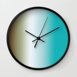 Ombre Feathers 1 Wall Clock