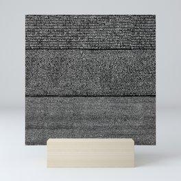 The Rosetta Stone // Black Mini Art Print