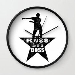 Floss Star Dance Wall Clock