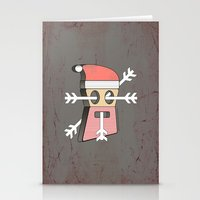 merry christmas Stationery Cards featuring Merry christmas by AmDuf