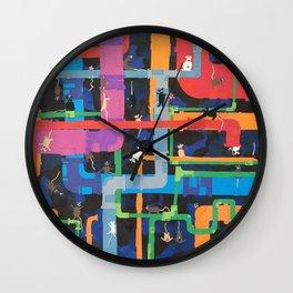 Pipes and Rats Wall Clock
