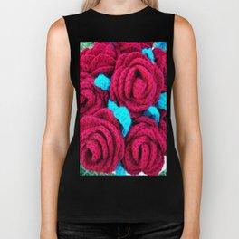 Crocheted Roses Biker Tank