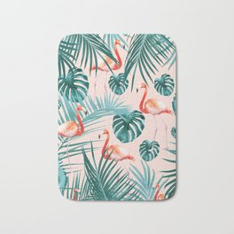 Tropical Flamingo Pattern #3 #tropical #decor #art #society6 Bath Mat