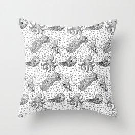 Cephalopods  Throw Pillow