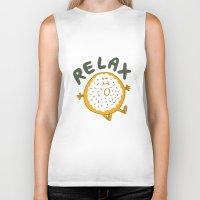 relax Biker Tanks featuring Relax by Vaughn Fender