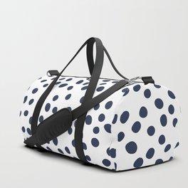 Dark blue vector doodle circle dot Duffle Bag