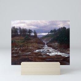 Johan Christian Dahl The Lower Falls of Labrofoss Mini Art Print
