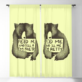 Feed Me And Tell Me I'm Pretty (Yellow) Blackout Curtain