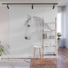 Inquisitive - Horse Art by Annette Bailey Wall Mural