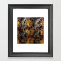 Organic digital background Framed Art Print