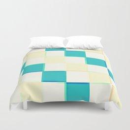 Teal & Cream Checkers : CHECKERBOARD Duvet Cover